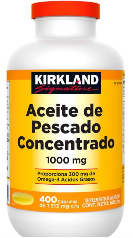 Costco : Aceite de Pescado Kirkland 400 cápsulas