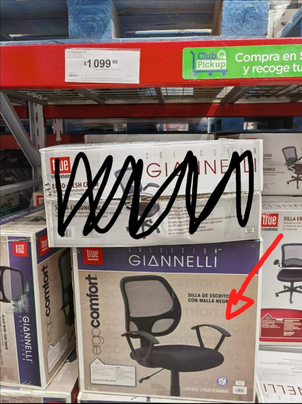 Sam's Club: Silla ergonómica Gianelli