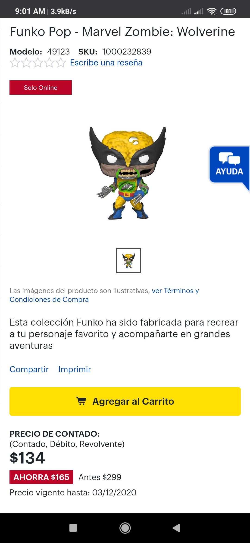 Best Buy: Funko Wolverine