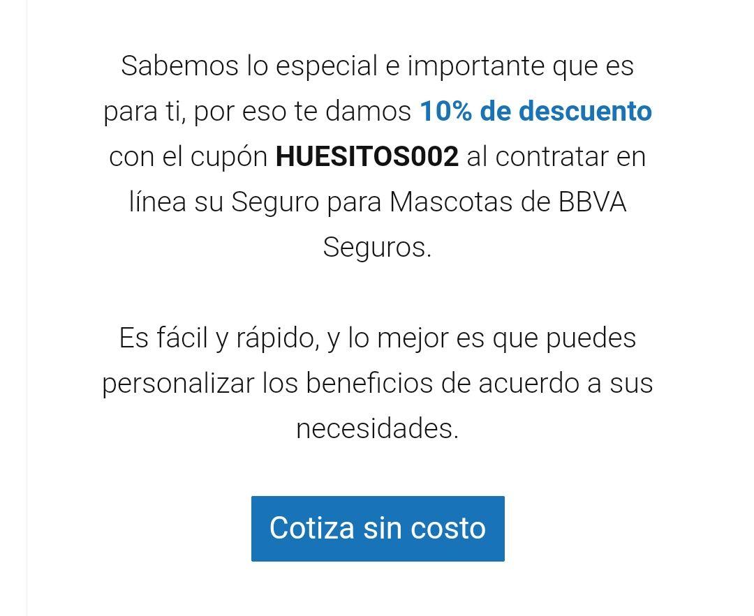 BBVA Bancomer: Descuento del 10% en seguro BBVA para mascotas