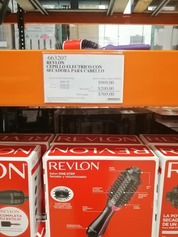COSTCO: cepillo electrico con secadora para el cabello Revlon