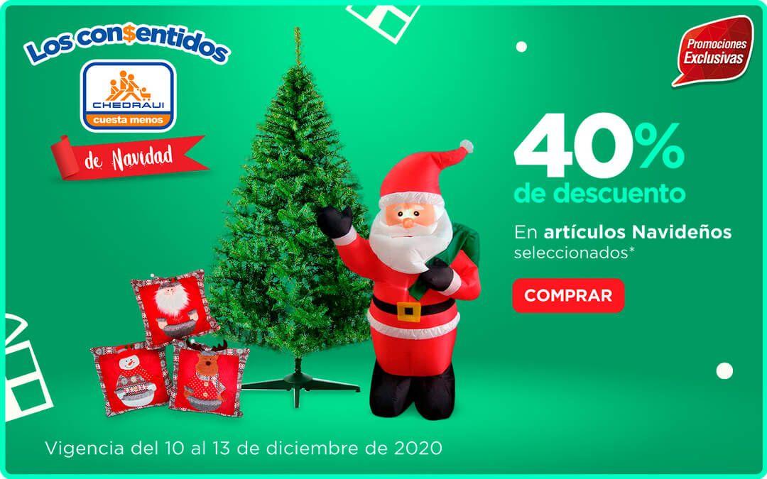 Chedraui: 40% de descuento/bonificación en artículos navideños del departamento de decoración
