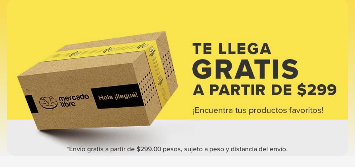 Mercado Libre: Envíos gratis a partir de $299