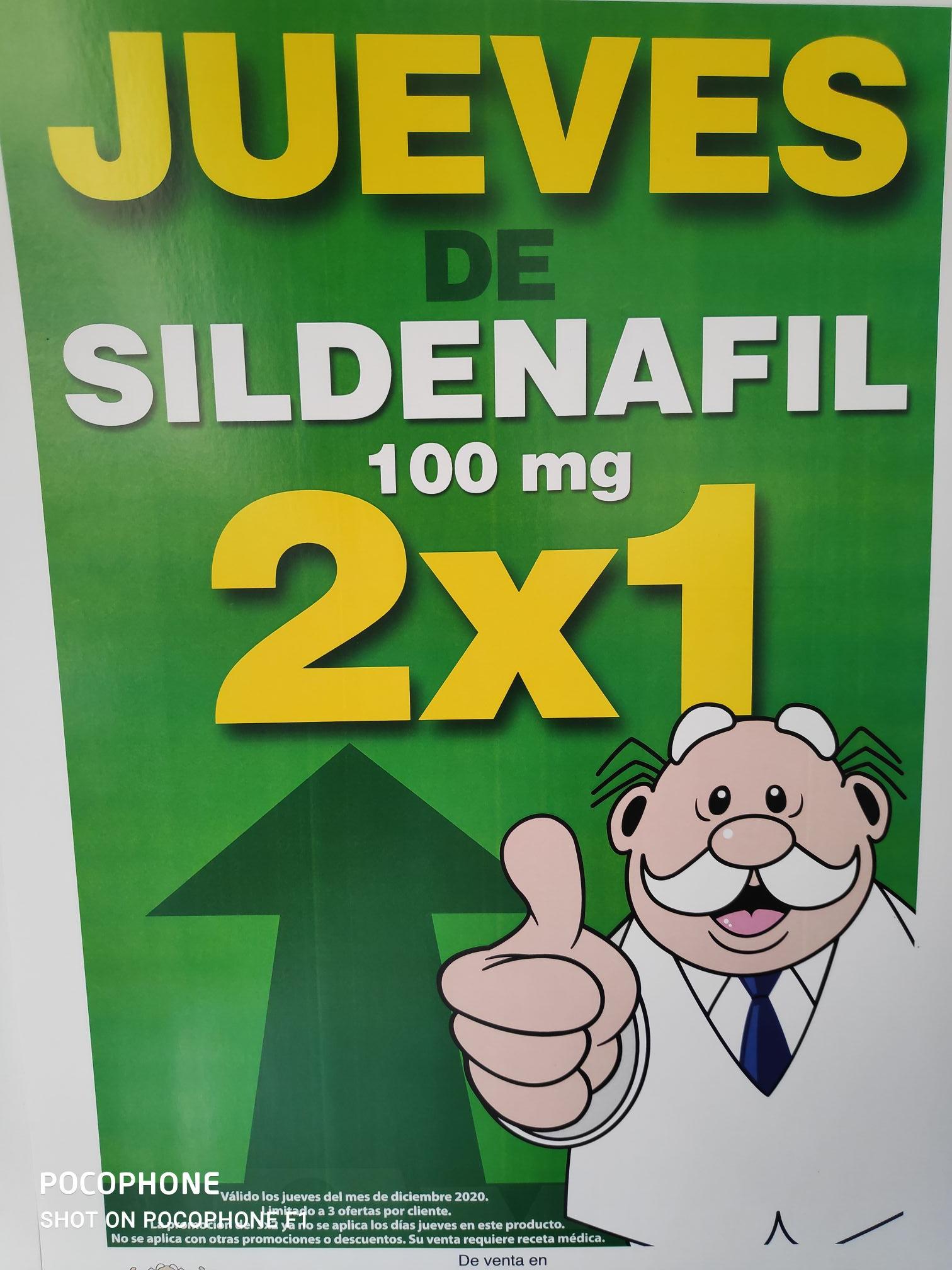 Farmacias Similares: Sildenafil 2x1