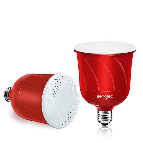 Amazon: Sengled + c01-br30msp JBL Funciona con luz LED integrada de Pulso con Altavoces Bluetooth, Dúo Master + Satellite, Candy Apple
