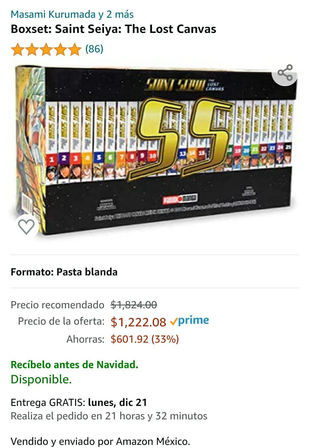 Amazon: Boxset: Saint Seiya: The Lost Canvas 25 tomos