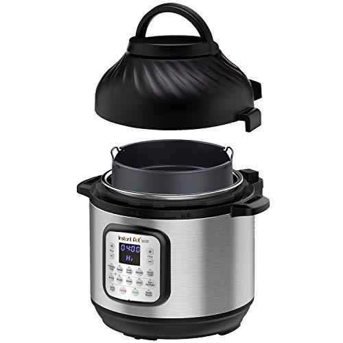 Amazon: Instant Pot Duo Crisp + tapa freidora de aire Air Fryer 8qt (7.5L la grandota) precio mas bajo según keepa