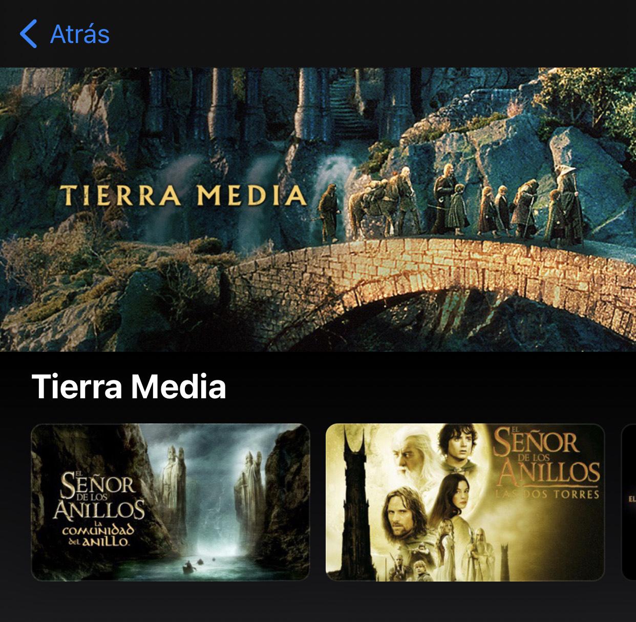 iTunes: El Señor de Los Anillos & Hobbit C/U 4k HDR + Dolby Atmos
