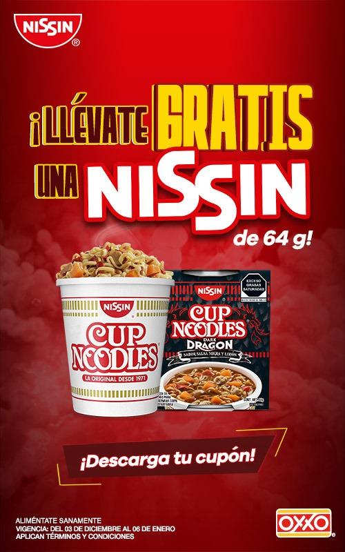 Oxxo: Cupón en la compra de una sopa instantánea U.F.O llévate gratis una sopa Nissin Cup Nodles