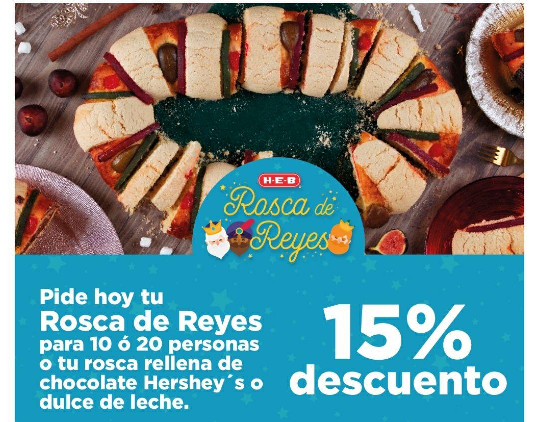HEB - Preventa de Roscas de Reyes desde 186 pesos