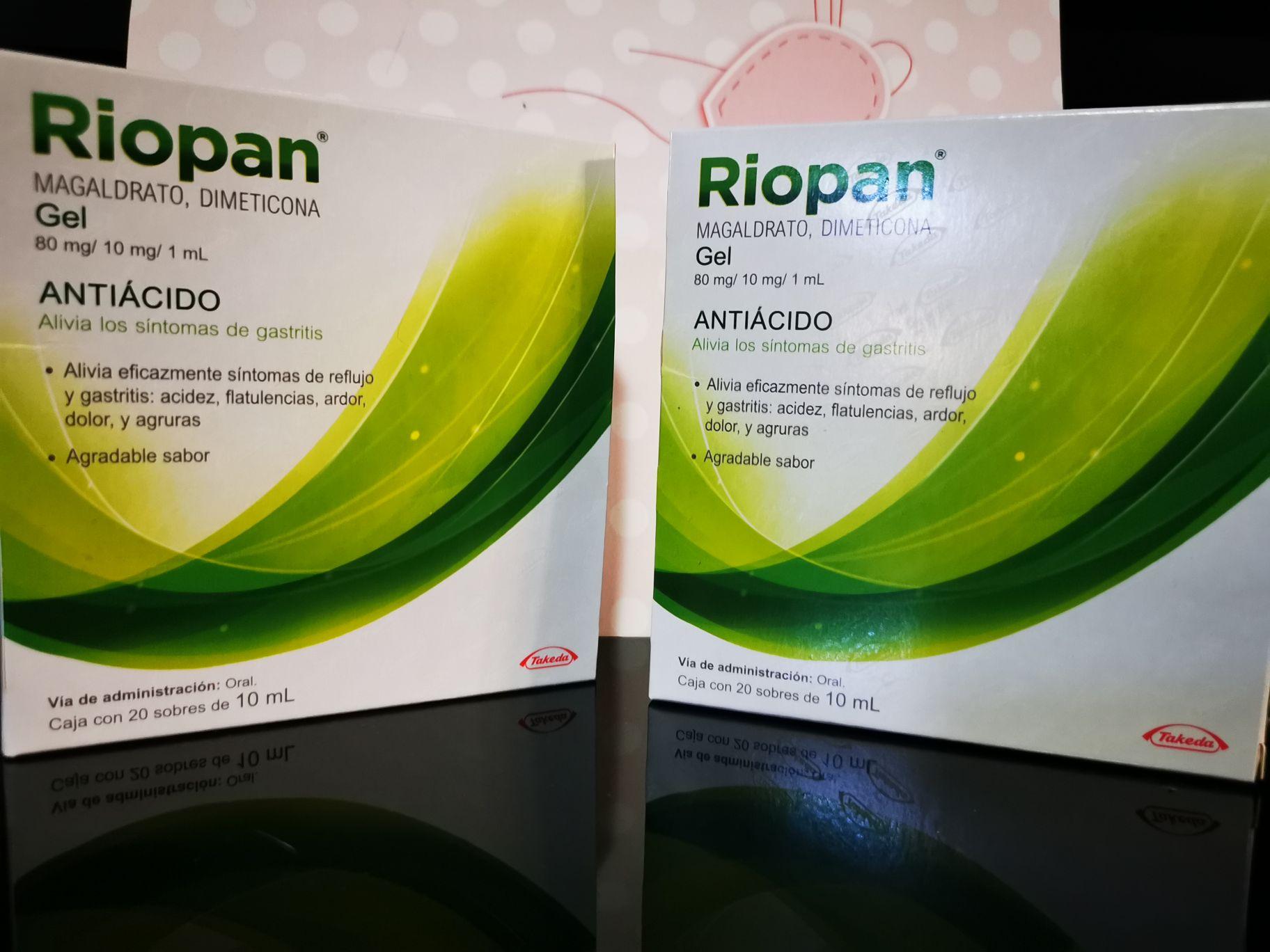 Riopan 2 cajas de 20 (Rappi/Farm.Benavides)