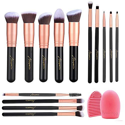 Amazon, Naropox Brochas de Maquillaje 14 Piezas, Profesional Libre de Crueldad Pinceles de Maquillaje Kabukir, Premium Suaves y Firmes