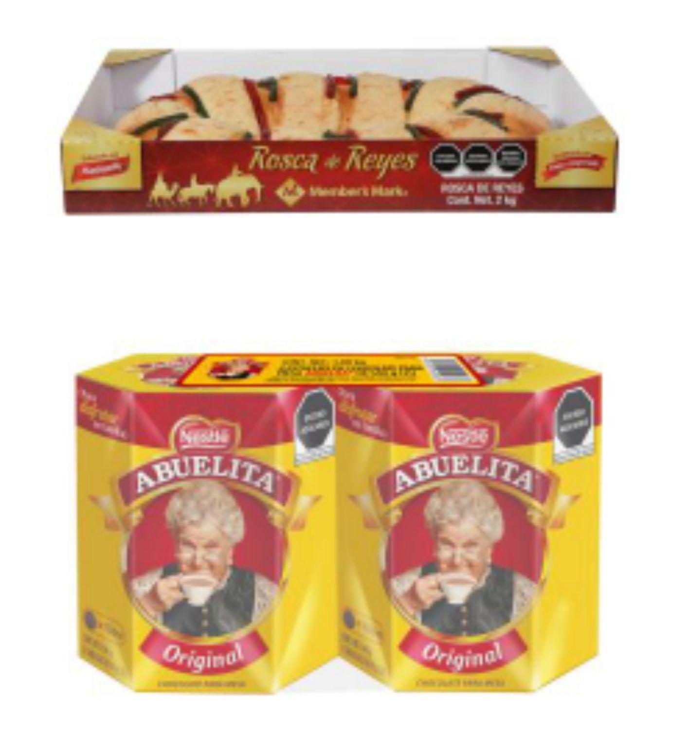 Sam's club:Rosca de Reyes Member's Mark 2 kg + Chocolate de Mesa Abuelita 2 pzas de 540g por $203