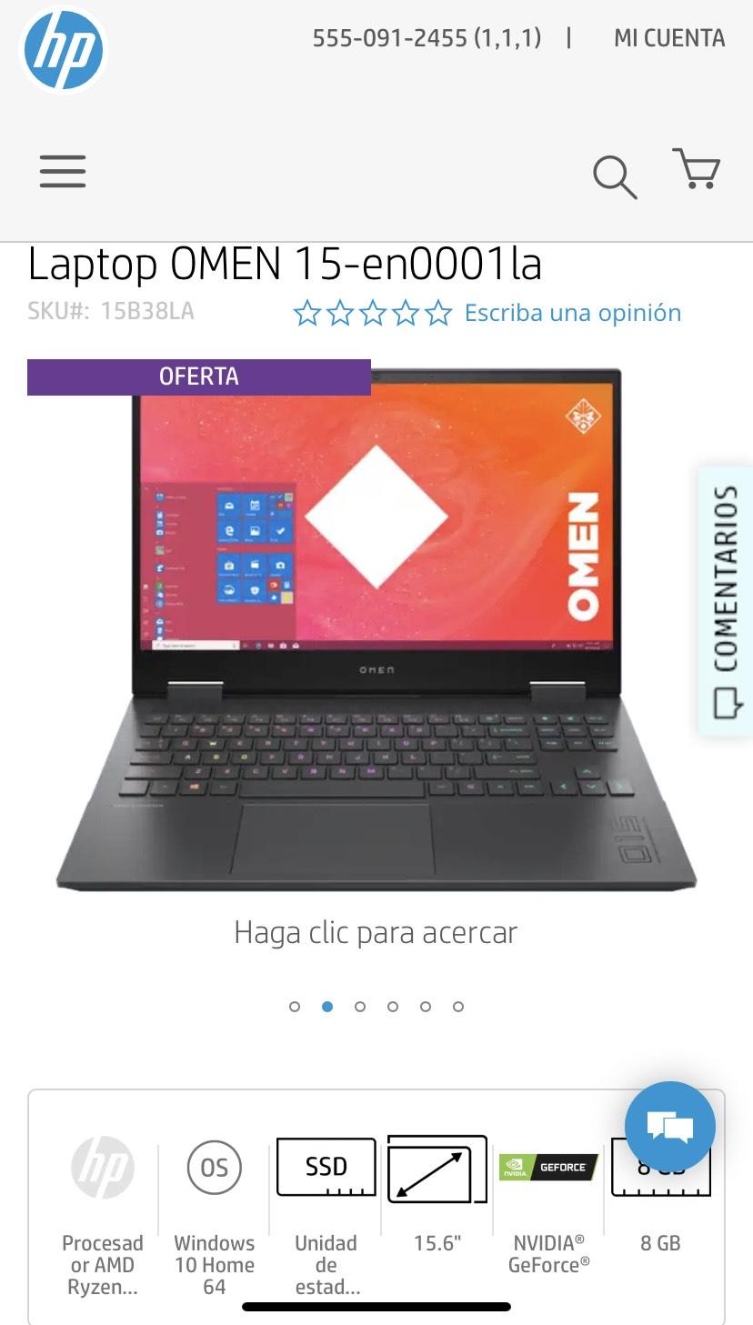 HP Online Laptop OMEN 15-en0001la