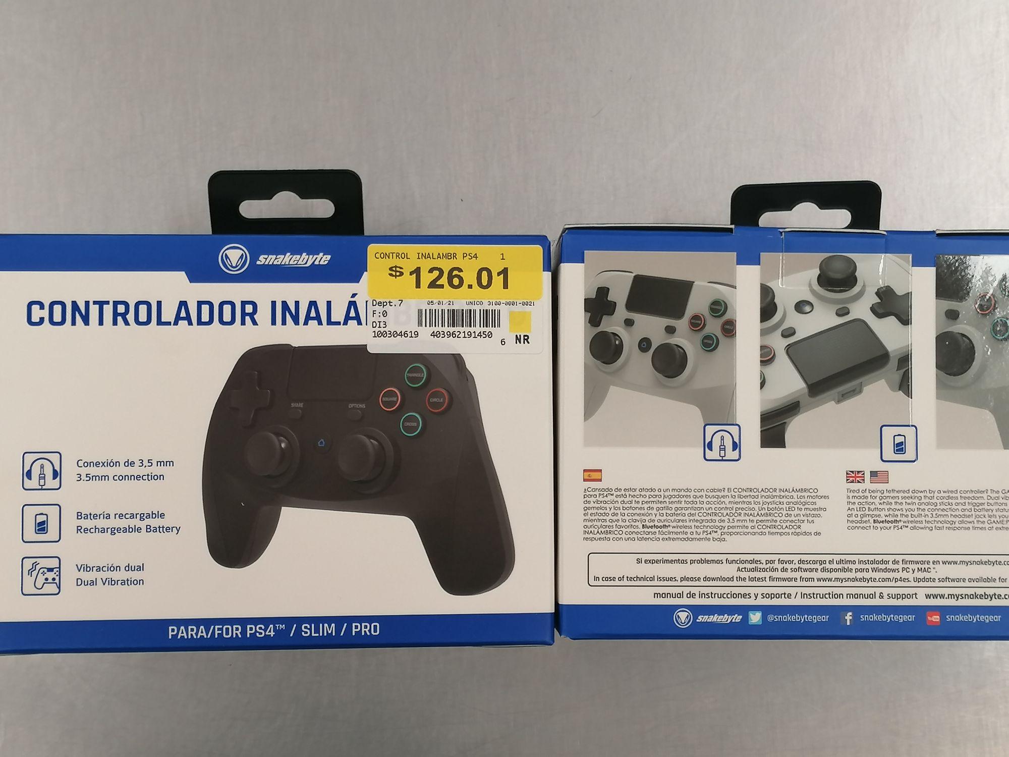 Control PS4 Snakebyte Varios Colores Walmart Satelite