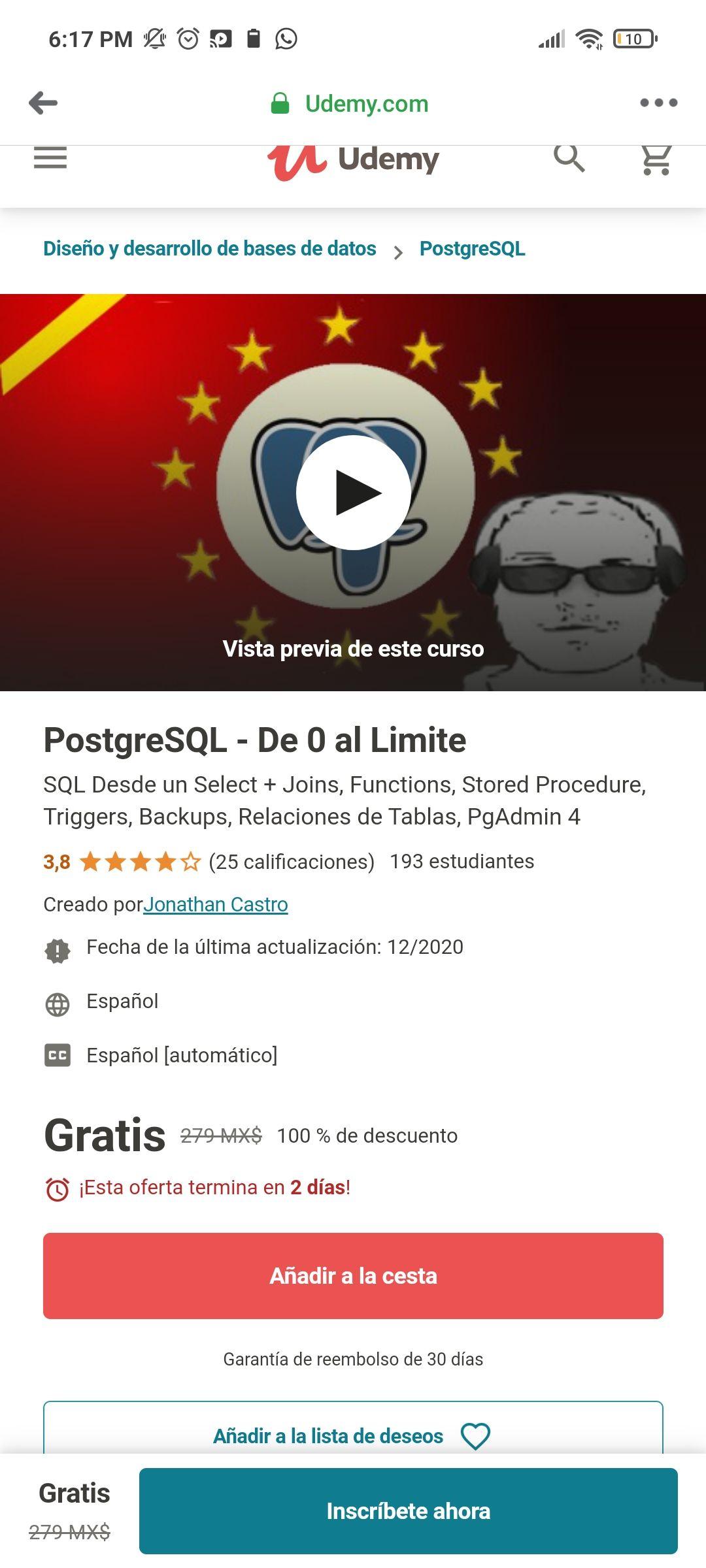 Udemy - PostgreSQL - De 0 al Limite