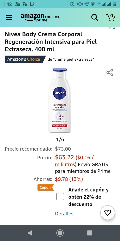 Amazon: Nivea Body crema corporal regeneración