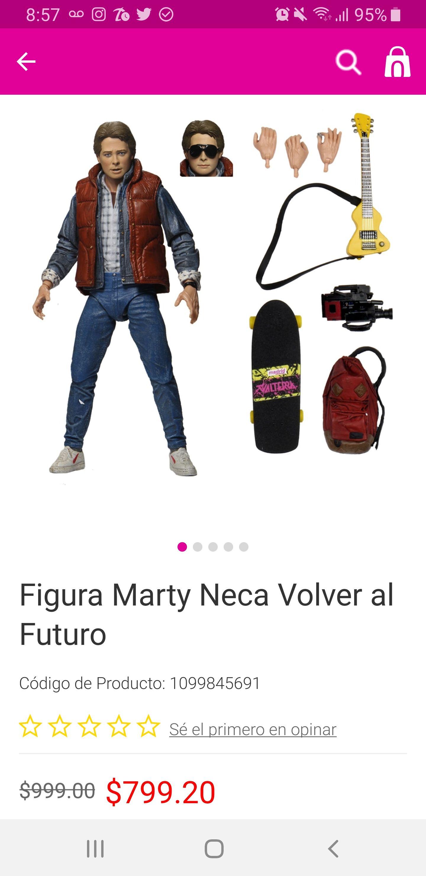 Liverpool: Marty Mcfly NECA. El mejor precio en México.