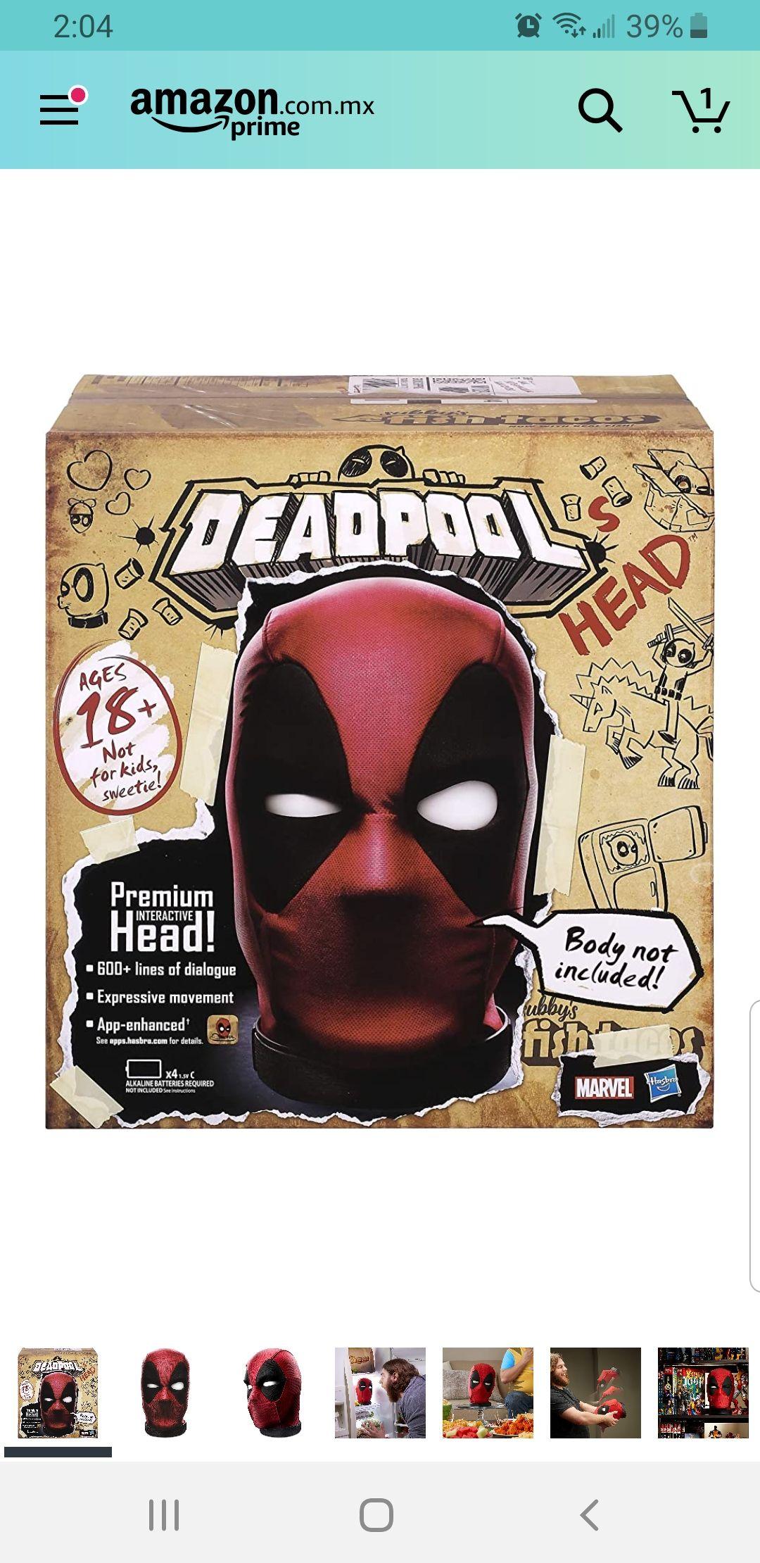 Amazon: Cabeza Interactiva Deadpool