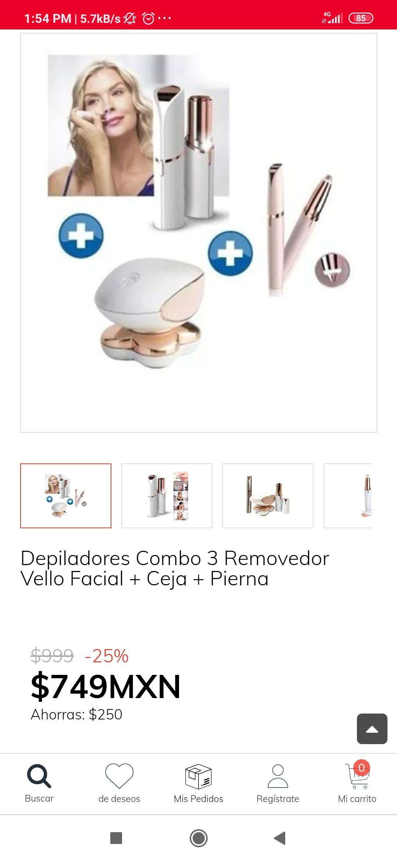 Claro shop: Depiladores Combo 3 Removedor Vello Facial + Ceja + Pierna