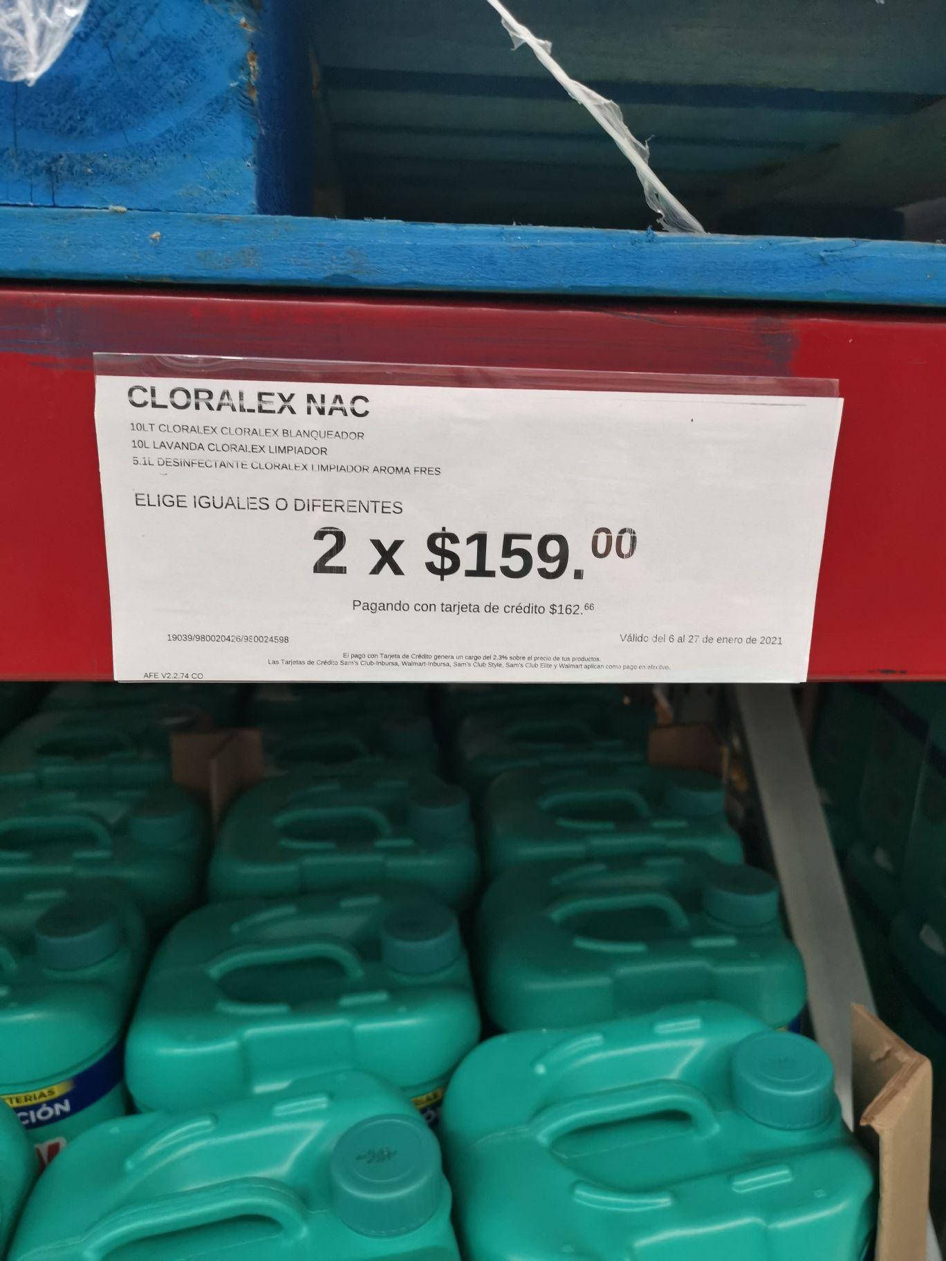 Sams Acapulco Diamante : cloralex 2x 159 en productos seleccionados con promonovela