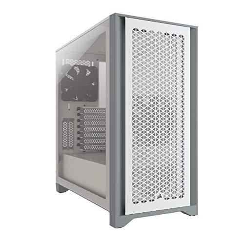 Amazon: Corsair 4000D Airflow - Carcasa para PC (Cristal Templado, Media-Torre), Color Blanco