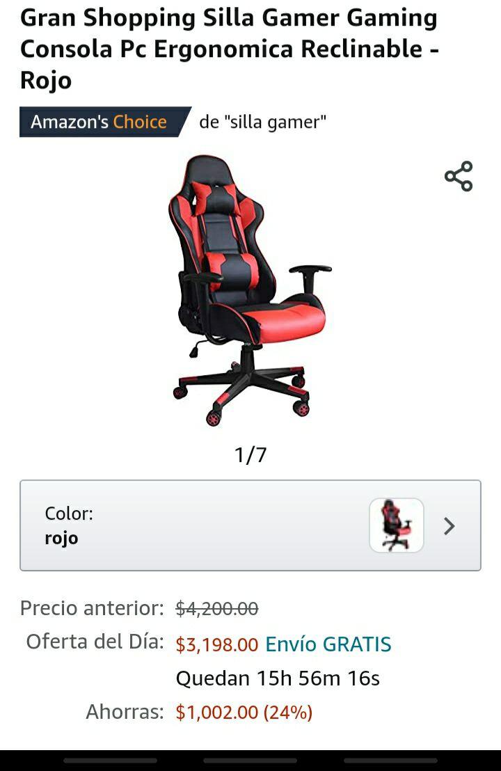 Amazon silla gamer