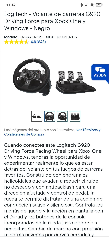 Best Buy Volante Logitech G920 Xbox One/series