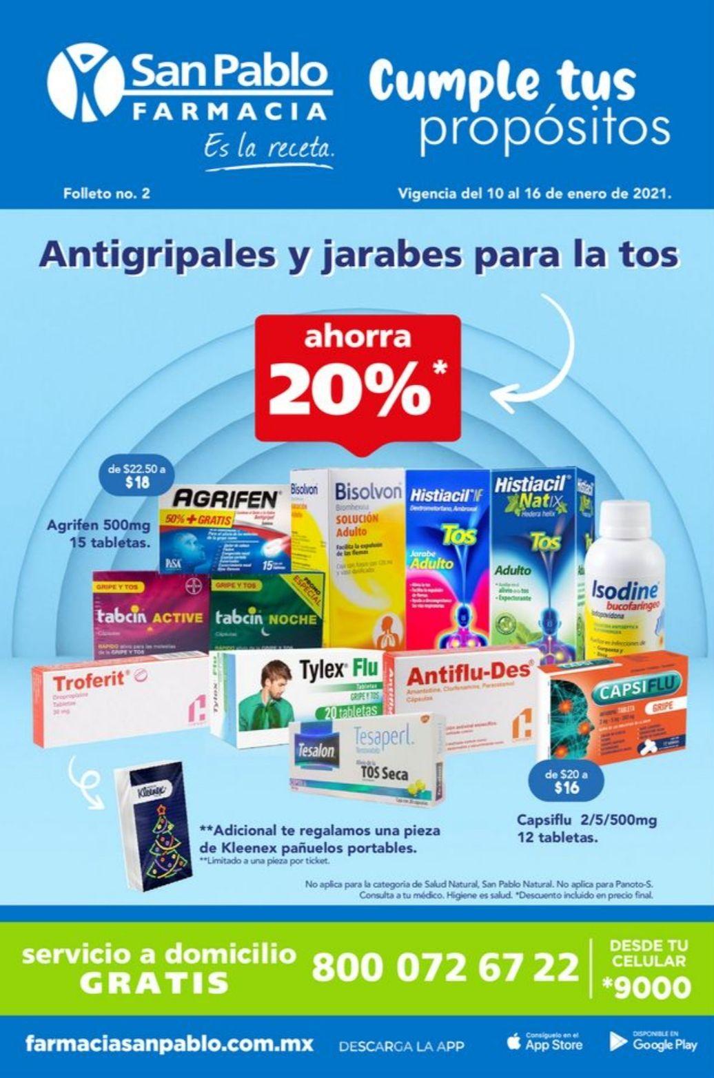"""Farmacias San Pablo: Folleto de Ofertas """"Cumple tus Propósitos"""" del Domingo 10 al Sábado 16 de Enero"""