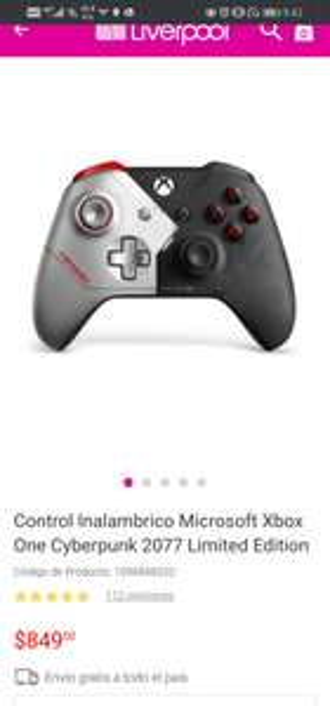 Liverpool: Control Xbox One Edicion Cyberpunk 2077