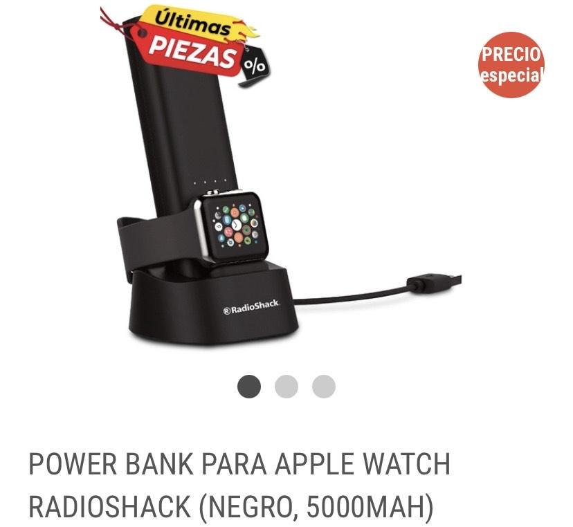 POWER BANK PARA APPLE WATCH RADIOSHACK (NEGRO, 5000MAH)