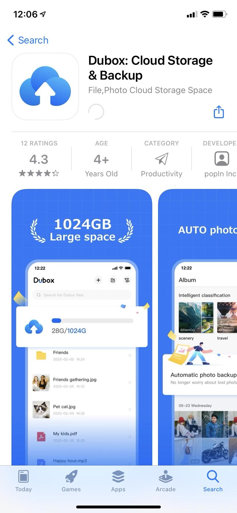 Dubox en iOS. 1TB en la nube, ¡gratis!