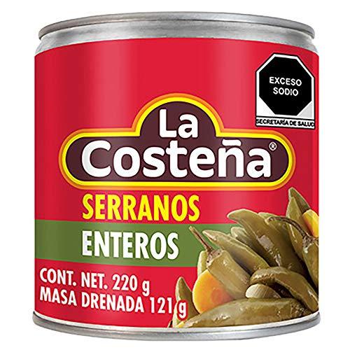 Amazon: La Costeña Serrano, 220 gramos. Paquete de 2