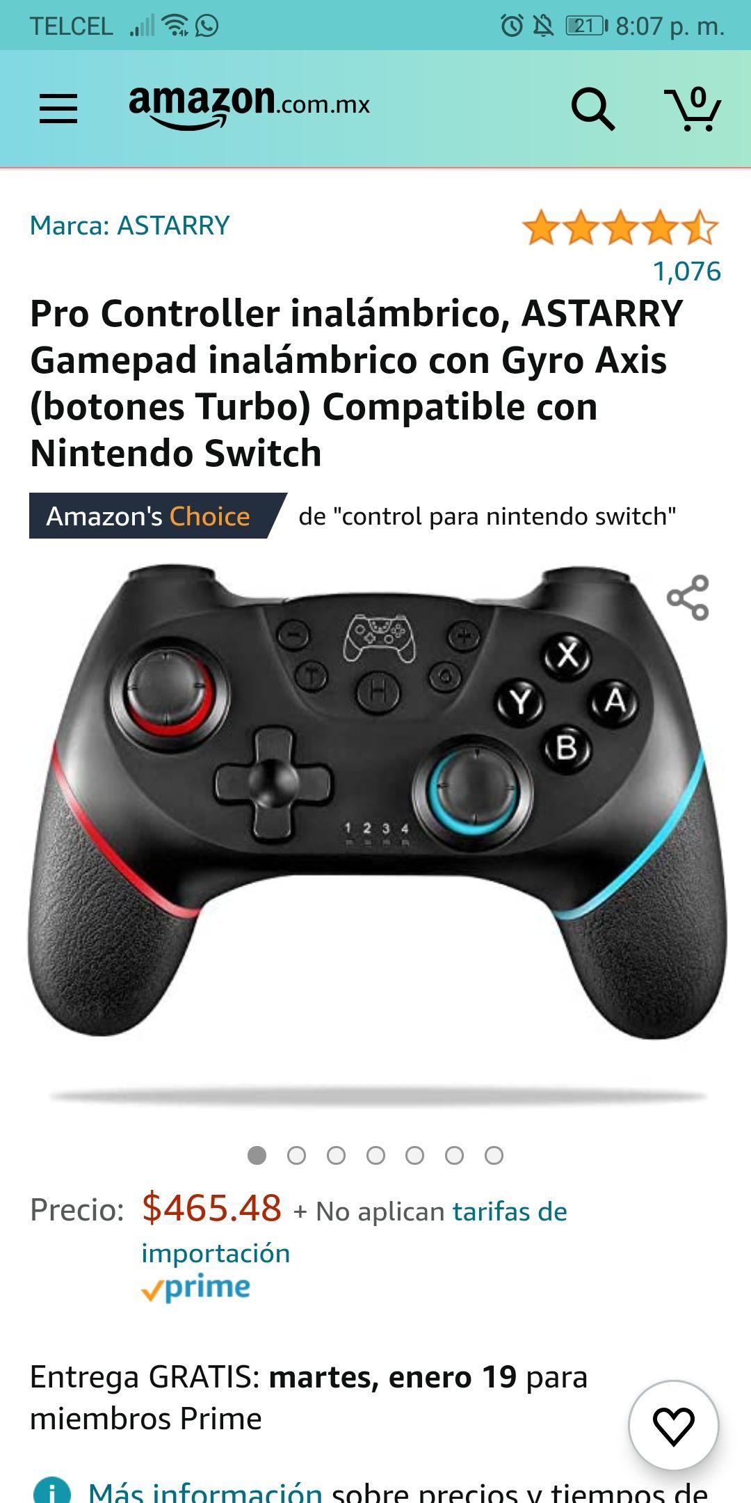 Amazon: Pro Controller ASTARRY inalámbrico