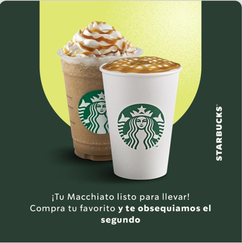 Starbucks: 2x1 en MACCHIATO, CLOUD MACCHIATO Y CARAMEL FRAPPUCINO