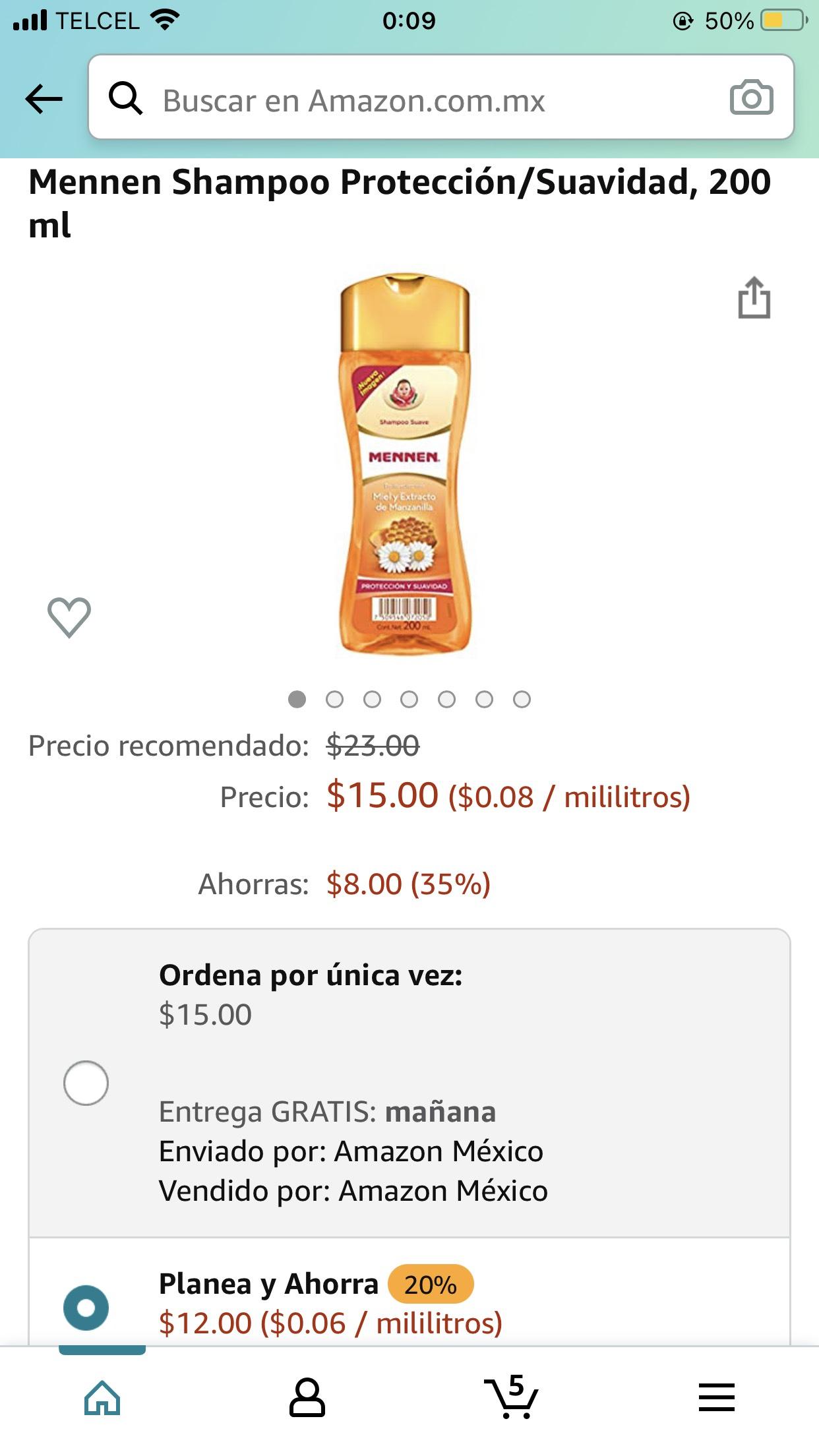 Amazon: Shampoo para las bendiciones