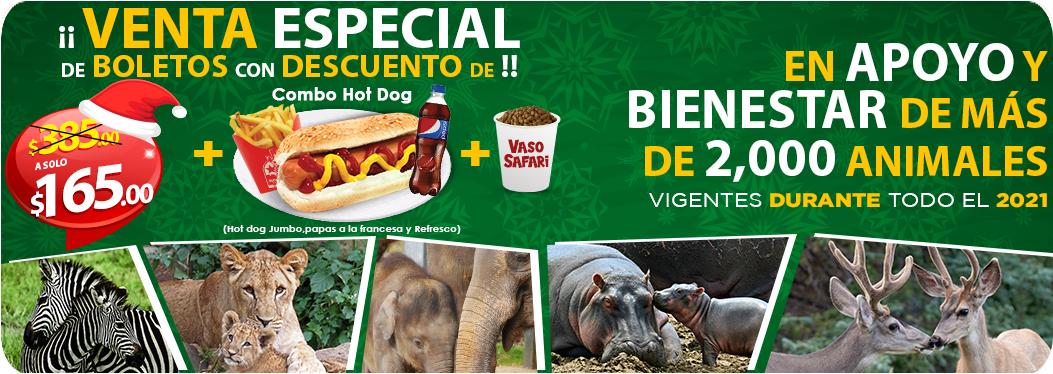 Boleto Bioparque estrella incluye combo hot dog y vaso safari. En apoyo a los animales