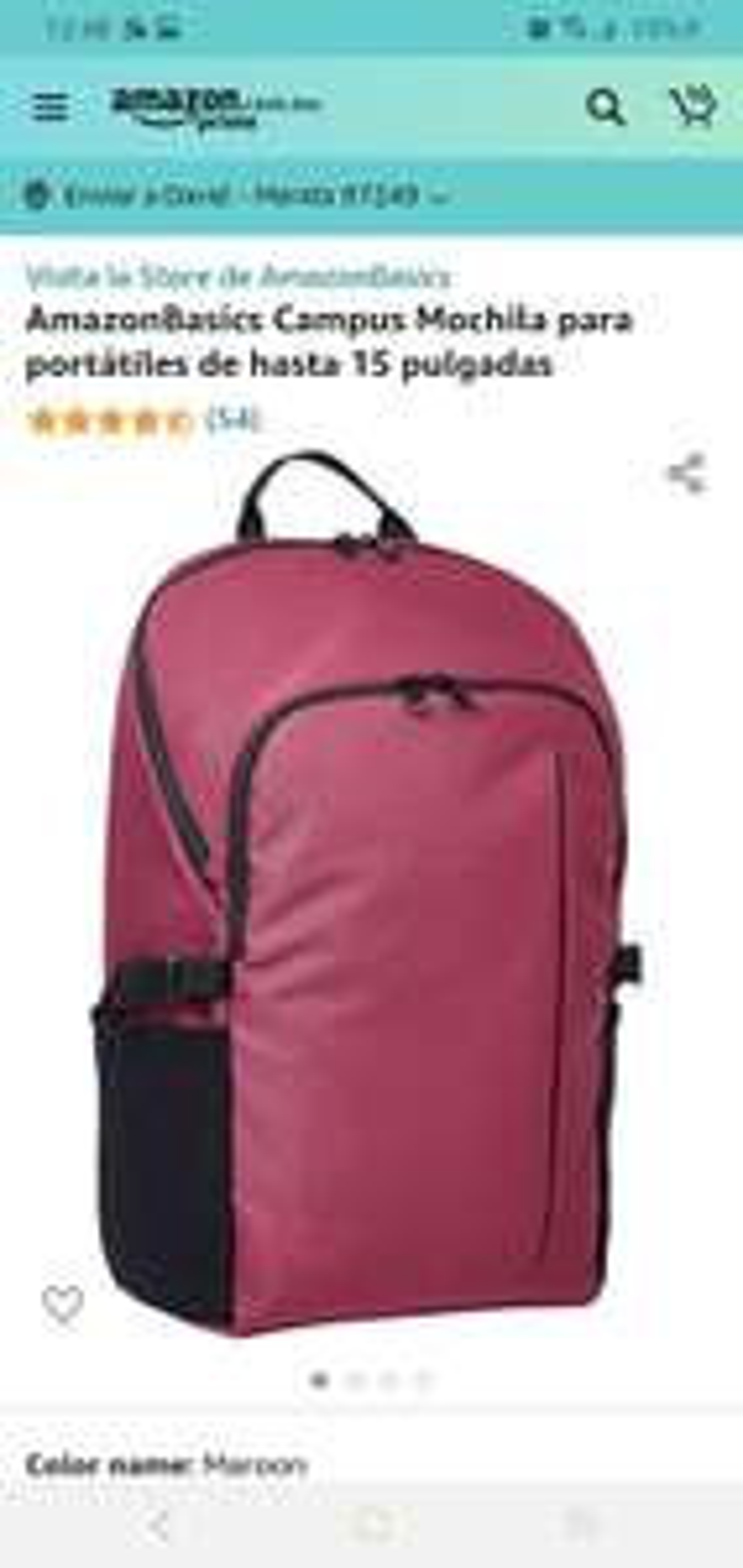 Amazon: mochilas para laptop Amazon Basics desde $217