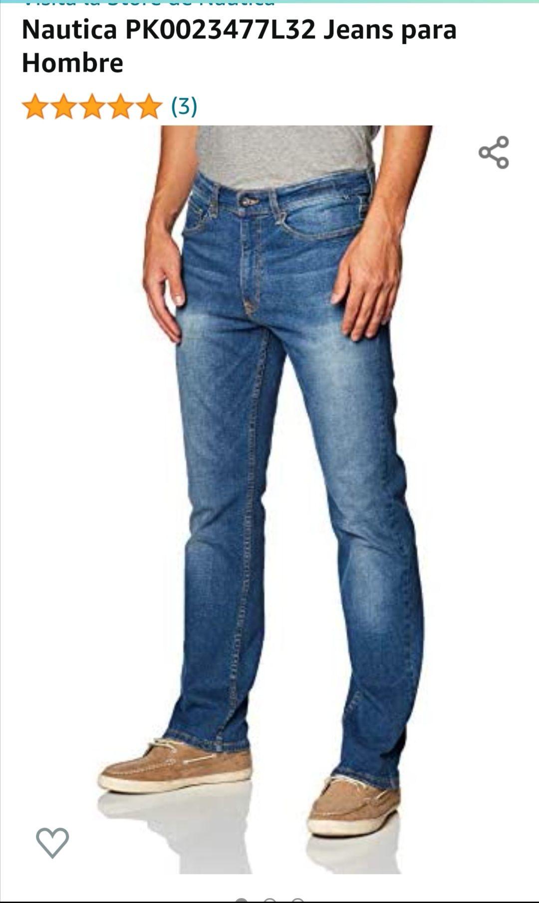 Amazon: Jeans Náutica talla 36