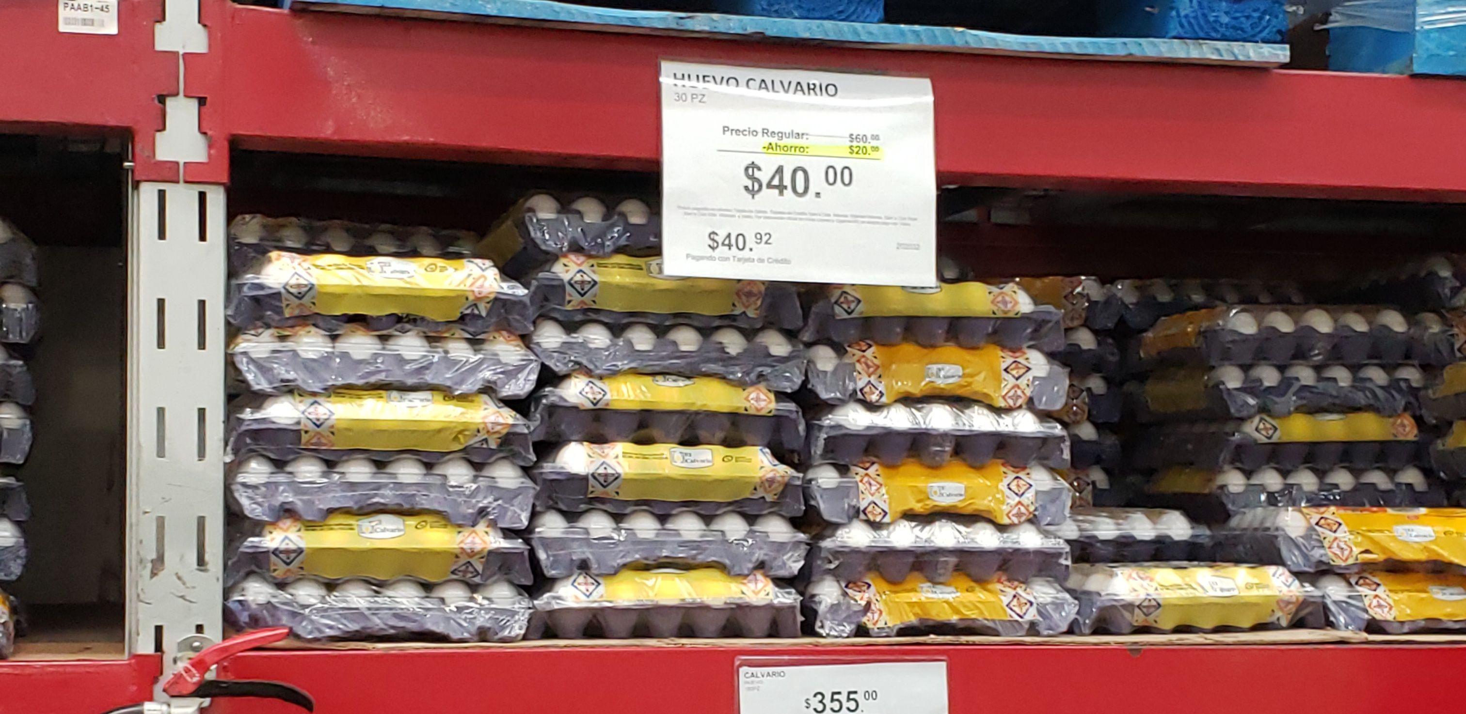 Sam's Club: huevo calvario 30 piezas