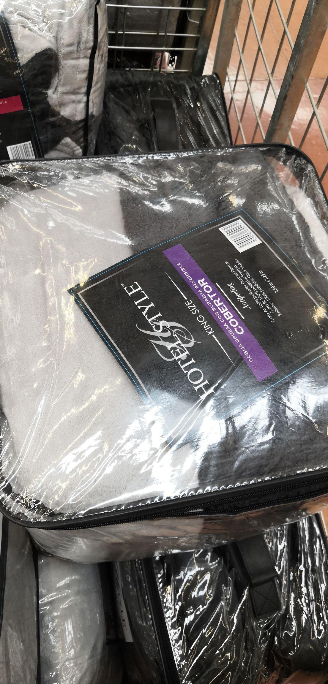 Walmart - Cobertor con Borrega King Size