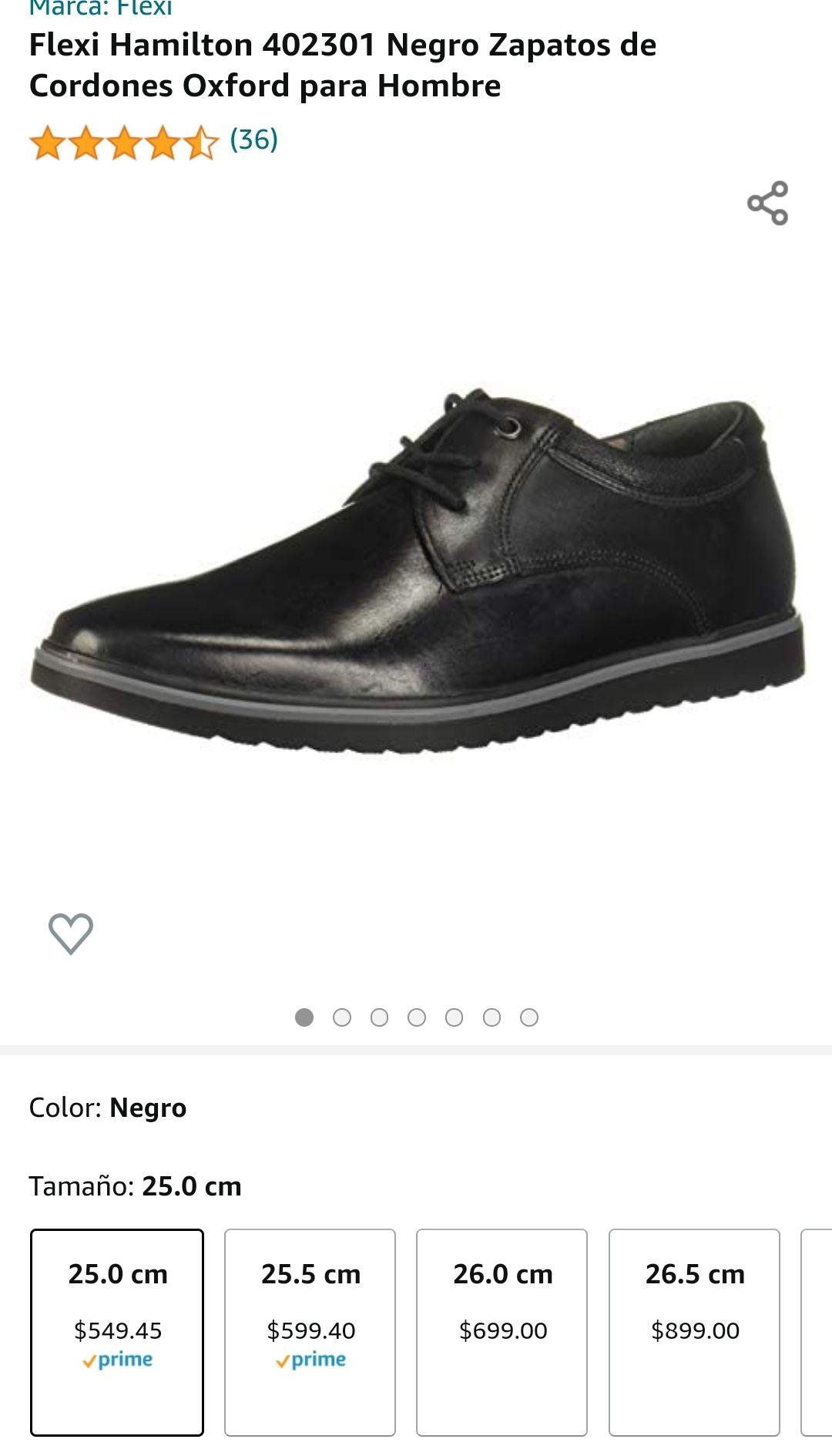 Amazon: Zapato Flexi #5 para los que calzan chiquito