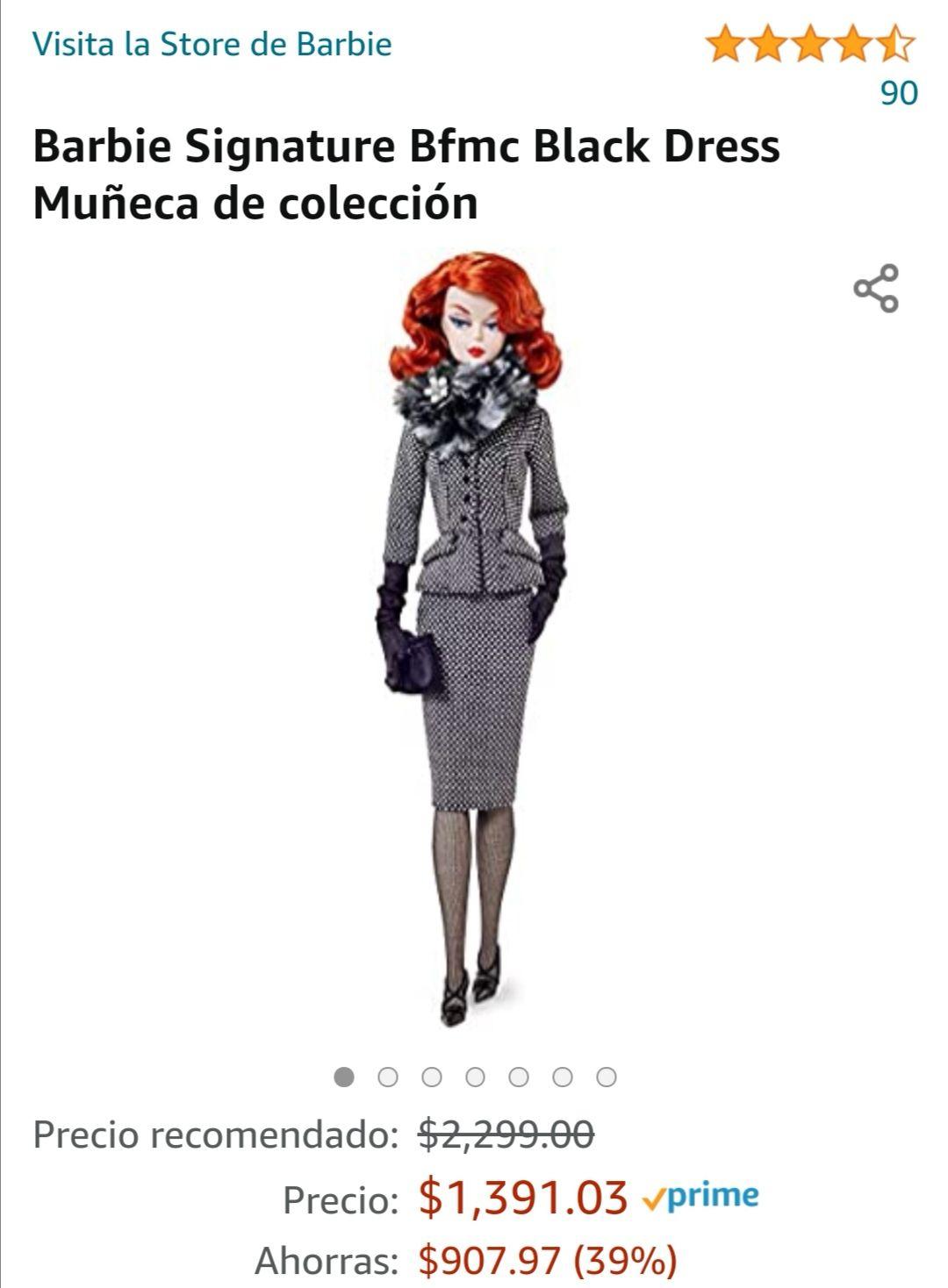 AMAZON: BARBIE SIGNATURE BFMC BLACK DRESS