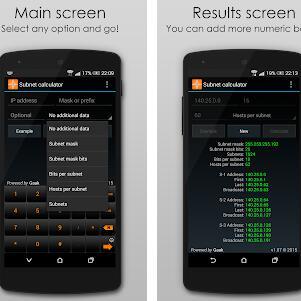 Play Store: 3 Apps Gratis Herramientas de Red [IP Subneteo Práctica/Subnet Calculadora/VLSM Calculadora]