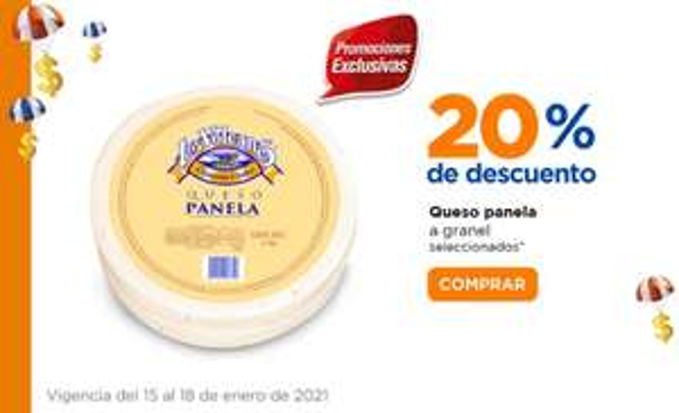 Chedraui: 20% de descuento en quesos Panela a granel seleccionados