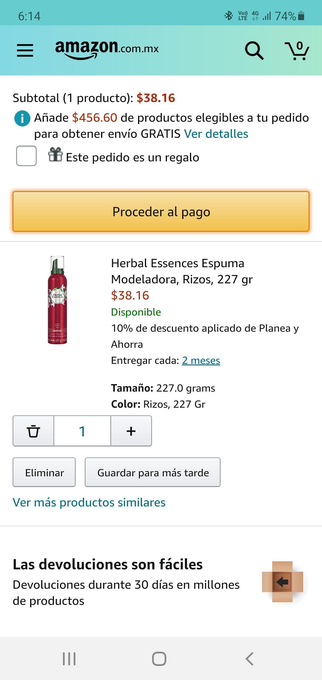 AMAZON HERBAL ESSENCES $38