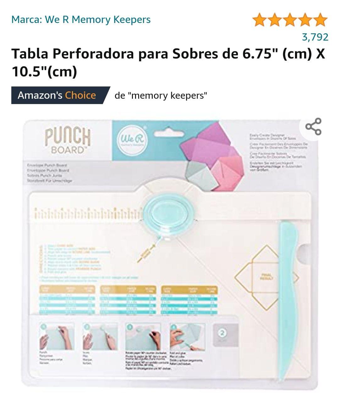 Amazon: Tabla perforadora para sobres