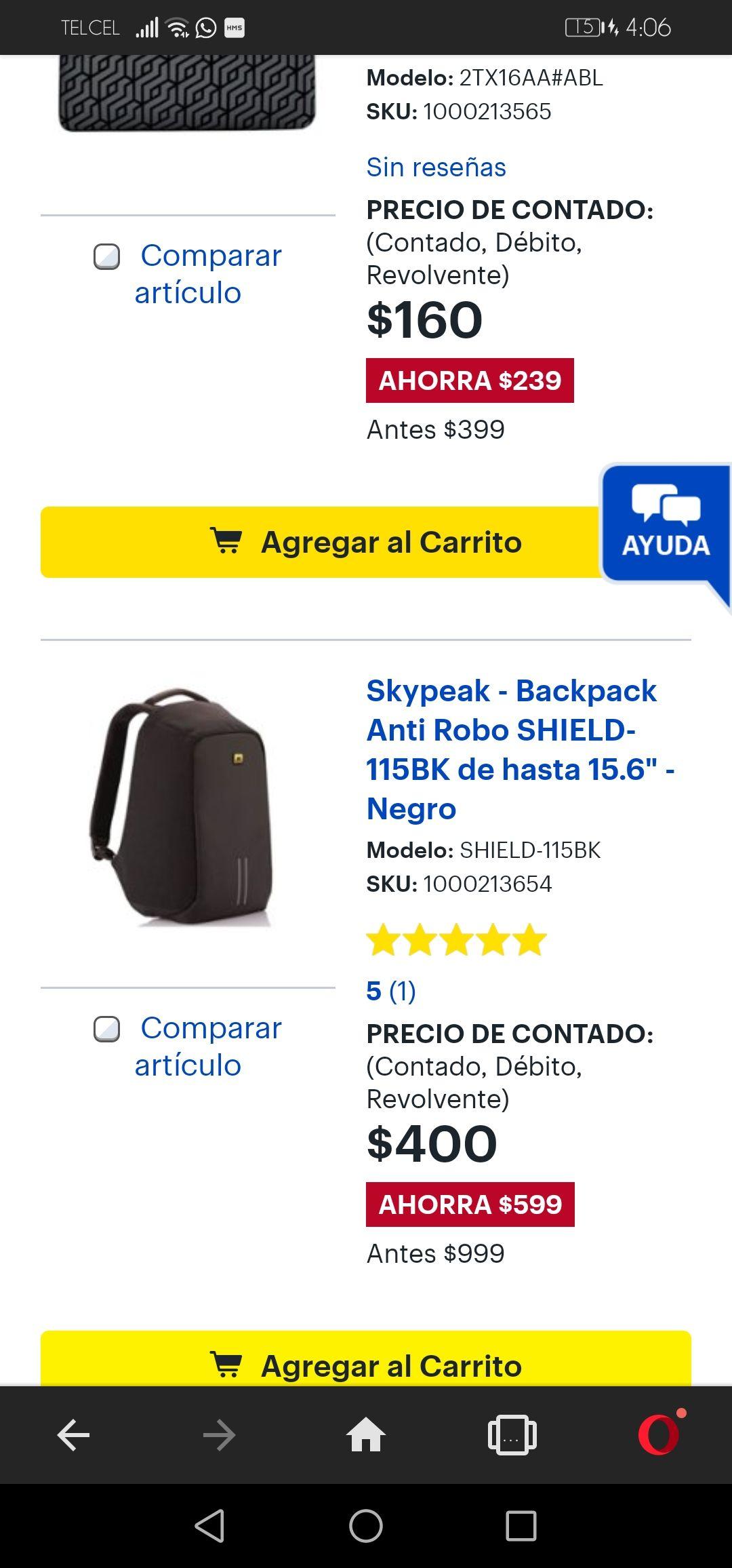 Best Buy: Mochila antirobo de 999 a 400