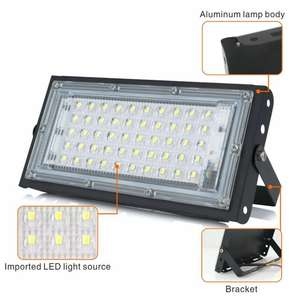 AliExpress: Reflector Led para exteriores, impermeable IP65, 50W