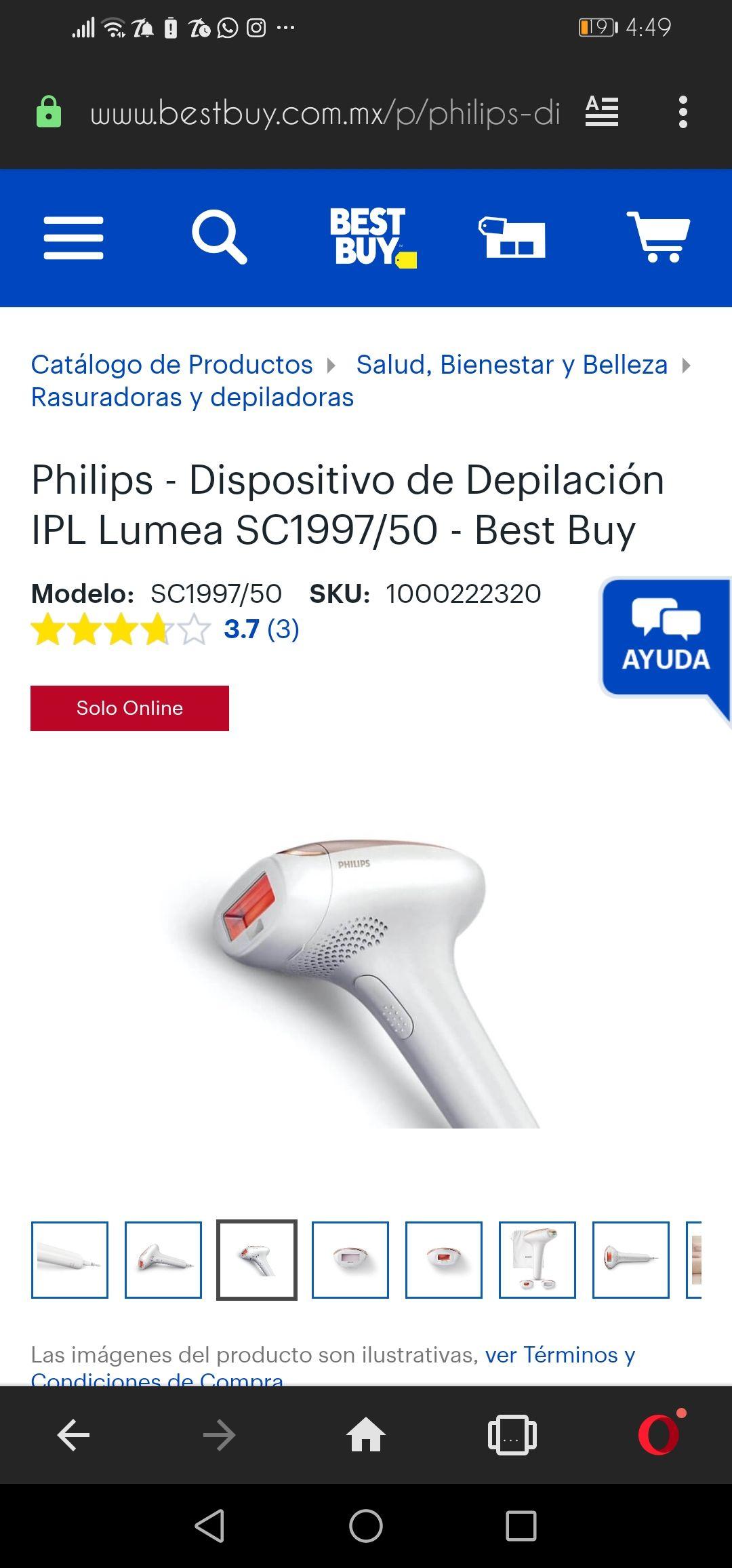 Best Buy: Philips Lumea depiladora laser
